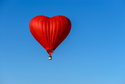 Hot Air Balloon - Valentines Small