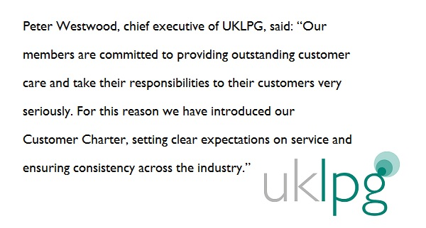 Customer Charter quote nov 2018